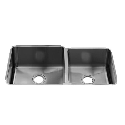 "Julien Classic 35"" x 19.5"" Undermount Stainless Steel Double Bowl Kitchen Sink"