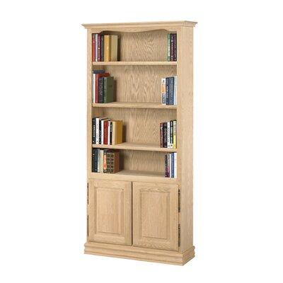 "A&E Wood Designs Americana 84"" Oak Bookcase with Doors"