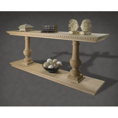 French Restoration Large Provence Dual Baluster Console Table