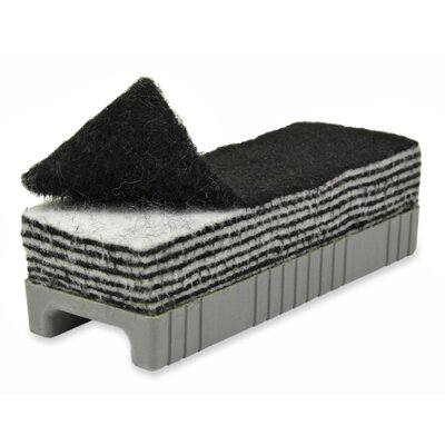 Chenille Kraft Company 12-in-1 Whiteboard Eraser, in Plastic Holder, Black/White