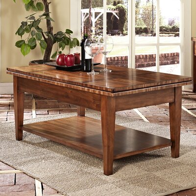 Somerton Dwelling Runway Coffee Table with Dual Lift-Top