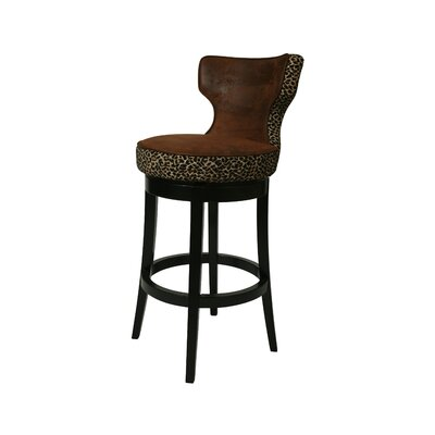 "Pastel Furniture Augusta 26"" Barstool in Wrangler with Leopard"