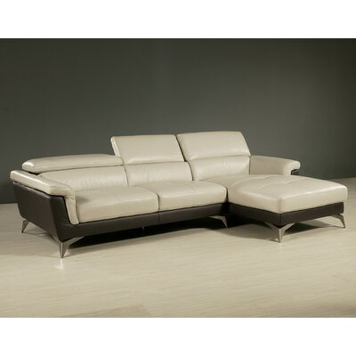 Pastel Furniture Elloise Leather Sectional Set