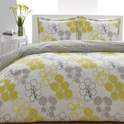 City Scene Pressed Flower Duvet Set