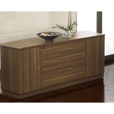 "Jesper Office 63"" Credenza with 2 Lateral Files and 2 Doors"