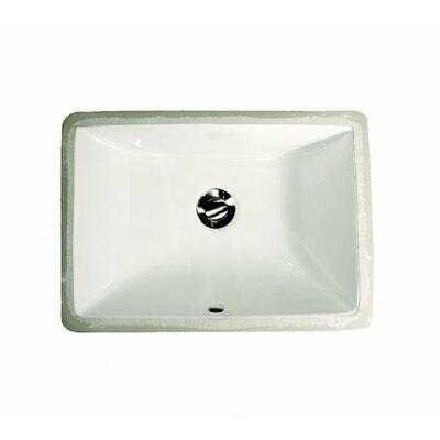 Rectangular Bathroom Sinks on Nantucket Sinks Rectangular Ceramic Undermount Bathroom Sink   Um 1611