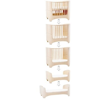 Leander Crib in White with Mattress