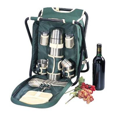 Sutherland Baskets Sideline Picnic Backpack with Chair in Green