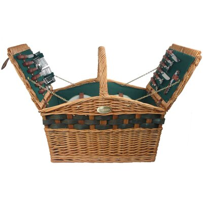 Decadence Picnic Basket in Hunter Green Lining