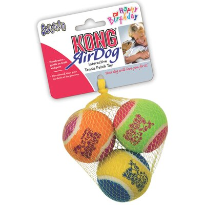 KONG Air Squeaker Birthday Ball Dog Toy
