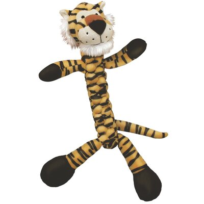 KONG Braidz Tiger Plush Dog Toy