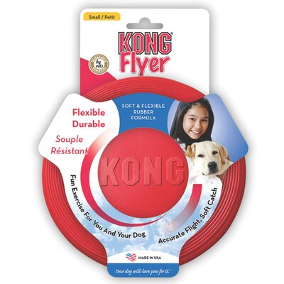 KONG Rubber Flyer Dog Toy in Red