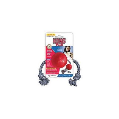 KONG Ball with Rope Dog Toy