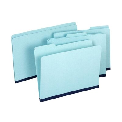 "Globe Weis Folder, 1""Expansion, 1/3 Cut Tab, 11-3/4""x9-1/2"", 20 per Box, Blue"