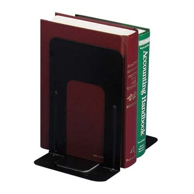 "Officemate International Corp Nonskid Steel Bookends, 4-3/4""x5-1/8""x5"", Black"