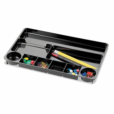 Recycled 9-Compartment Desk Drawer Organizer