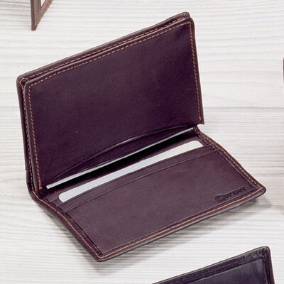 Winn International Cowhide Nappa Leather Two Fold Business Card Case II
