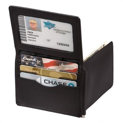 Winn International Cowhide Napa Leather Money Clip Wallet