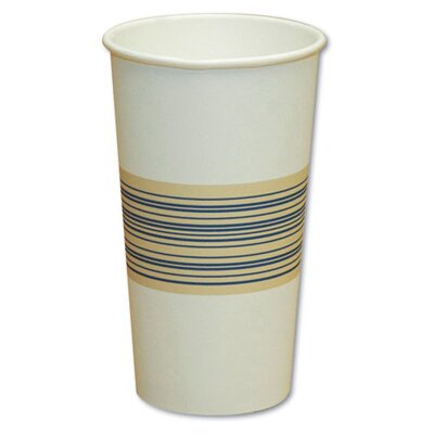 Boardwalk 12 oz Paper Hot Cup in Blue and Tan