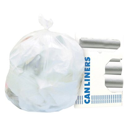 Boardwalk 7-Gallon High-Density Can Liner in Clear