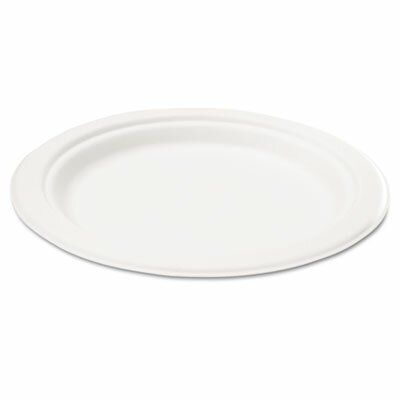 "Savannah Supplies Inc. Naturehouse Bagasse 7"" Plate, 125/Pack"