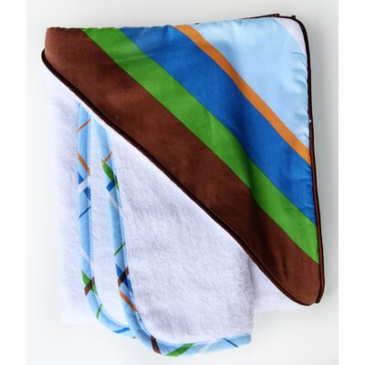 Boutique Diagonal Stripe Hooded Towel Set