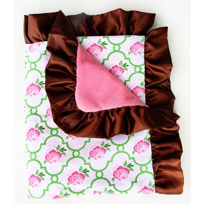 Boutique Rose Lattice Ruffle Blanket