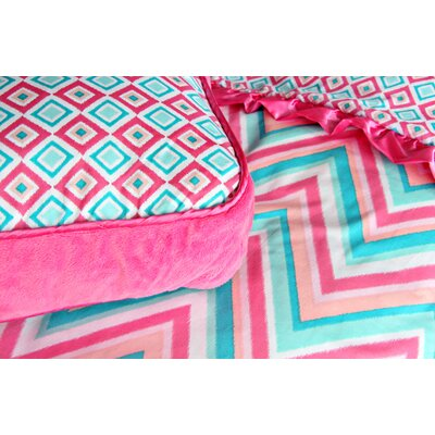 Caden Lane Ikat Girl Square Pillow