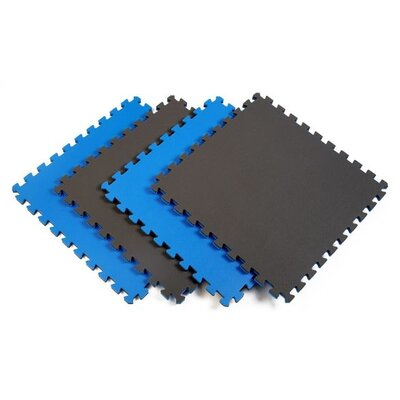 Norsk Floor Reversible Sport Foam Mats in Blue / Gray (Pack of 4)