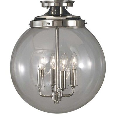 Framburg Moderne 4 Light Semi Flush Mount