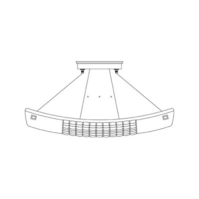 Framburg Equinox 1 Light Semi Flush Mount