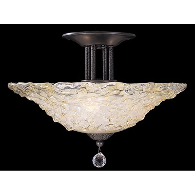 Framburg Rhapsody 3 Light Semi Flush Mount