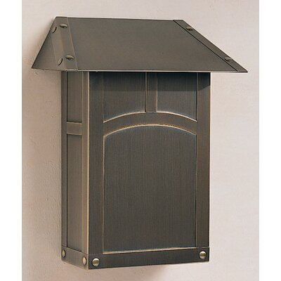 Arroyo Craftsman Evergreen Vertical Wall Mounted Mailbox