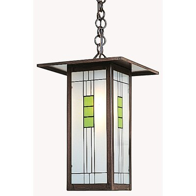 Arroyo Craftsman Franklin Long Body 1 Light Outdoor Hanging Lantern