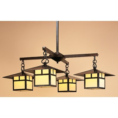Arroyo Craftsman Monterey 4 Light Chandelier with Overlay