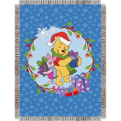Entertainment Tapestry Holiday Throw Blanket - Pooh - Home Made Holiday