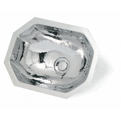 WS Bath Collections Metal Octagon Bathroom Sink