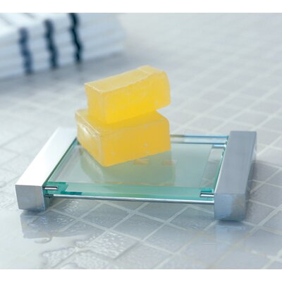 "WS Bath Collections Complements 6.3"" x 3.9"" Metric Free Standing Soap Dish in Stainless Steel"