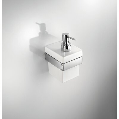"WS Bath Collections Skuara 6.3"" Soap Dispenser in White"