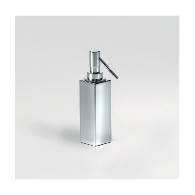 "WS Bath Collections Complements 2"" x 2"" Metric Free Standing Soap Dispenser in Polished Chrome"