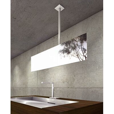 "WS Bath Collections Mirror Pure 41"" Hydrus Ceiling Mount Mirror in Stainless Steel"