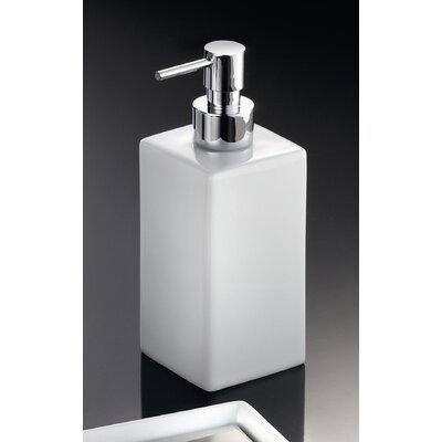 "WS Bath Collections Complements 6.7"" H x 2.2"" Saon Soap Dispenser in Polished Chrome"