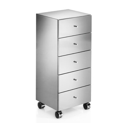 "WS Bath Collections Linea 13.8"" x 15.6"" Runner Storage Cabinet in Stainless Steel"