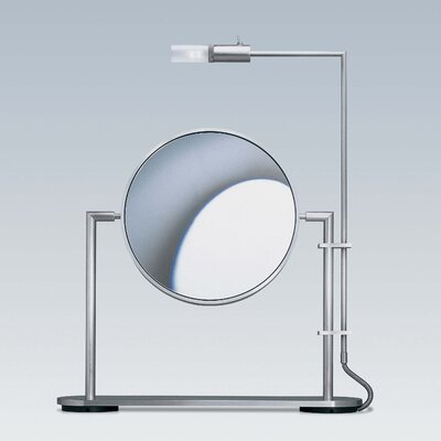 WS Bath Collections TS1 Freestanding Magnifying (5X) Makeup Mirror with Light