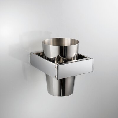 WS Bath Collections Skuara Tumbler in Chromed Brass / Stainless Steel