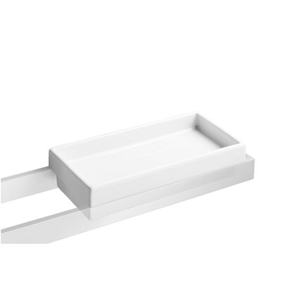 WS Bath Collections Skuara Sponge Holder in White