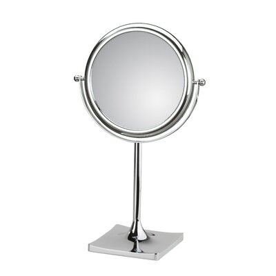 WS Bath Collections Doppiolo Free Standing Magnifying Cosmetic Mirror