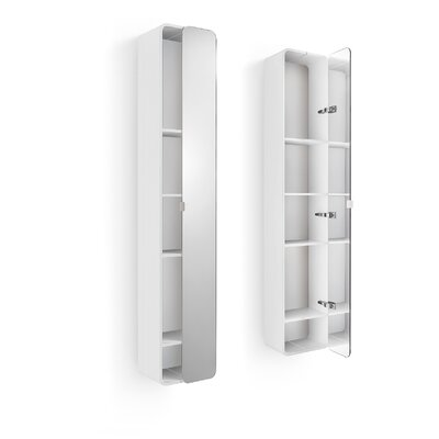 "WS Bath Collections Linea Bej 12"" Mirrored Cabinet"