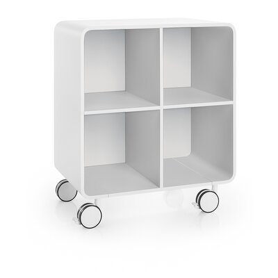 WS Bath Collections Linea Bej Four Shelf Storage Unit with Wheels