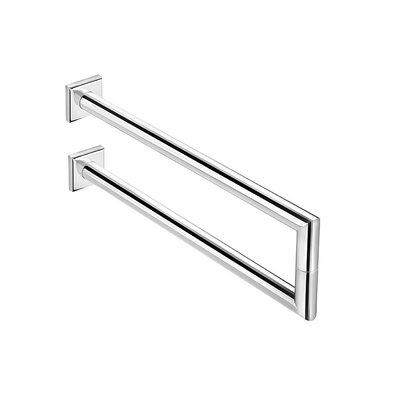 "WS Bath Collections Kubic Class 14.2"" Double Towel Bar"